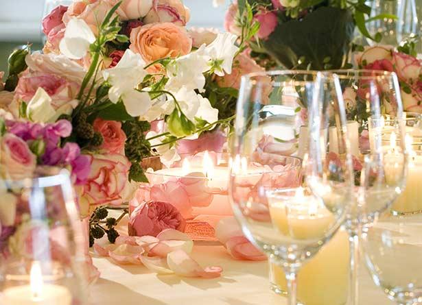 Dekoration für Hochzeiten, Firmenfeiern und mehr